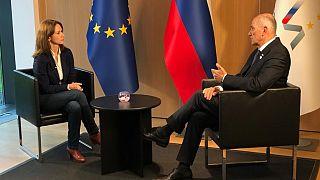 Slowenischer Ministerpräsident Janez Jansa im Euronews-Interview