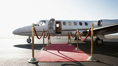 Private jets will be bringing some delegates to the climate conference.