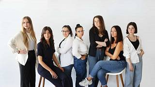 Members of 'Stop Fisha' a French organisation fighting against cyber harassment