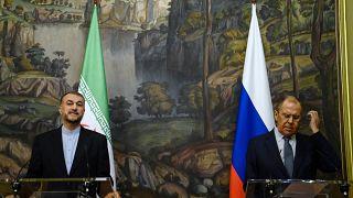 نشست خبری وزرای امور خارجه روسیه و ایران در مسکو