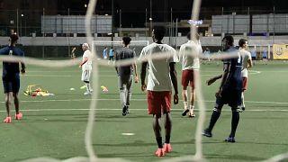 Sessão de treino da equipa do St. Ambroeus FC