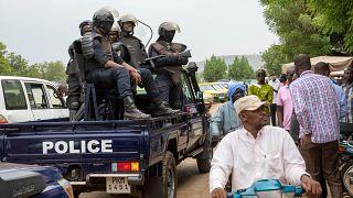 عناصر من الشرطة المالية في العاصمة باماكو. 2021/05/25