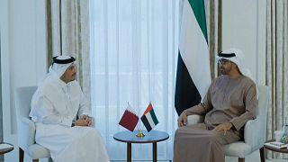 ولي عهد أبوظبي يستقبل وزير خارجية قطر. 06/10/2021