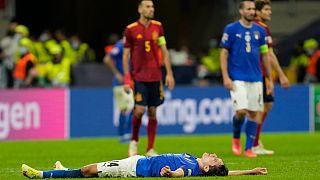 شکست ایتالیا در مقابل اسپانیا