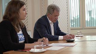 Nella Salminen a été selectionnée par l'organisation Plan International pour travailler le temps d'une journée aux côtés du président Niinisto.