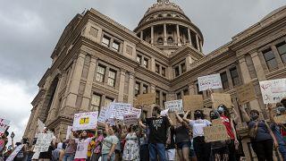 من احتجاج ضد قانون الإجهاض في تكساس
