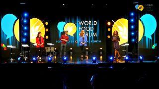 Cérémonie de clôture du Forum mondial de l'alimentation à Rome, le 5 octobre 2021