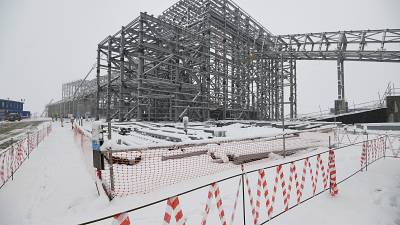 A view of the Udokan copper industrial complex under construction in eastern Siberia's Zabaikalsky region.
