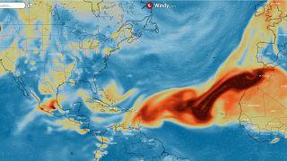 Previsión de columna total de dióxido de azufre para el jueves 7 de octubre