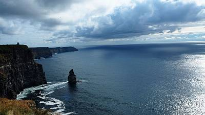 The Cliffs of Moher in the Burren region of County Clare, Ireland.