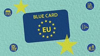 """""""البطاقة الزرقاء ء للاتحاد الأوروبي"""" أو """"البلو كارد"""""""