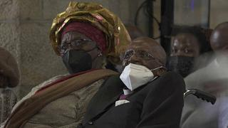 South Africa: Desmond Tutu marks 90th birthday with rare public appearance