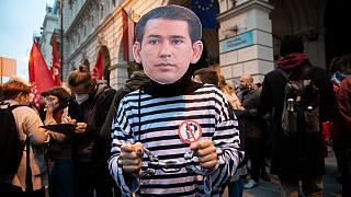 Demonstartion vor ÖVP-Zentrale