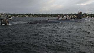 """الغوّاصة الأمريكية """"يو.إس.إس. كونيتيكت."""