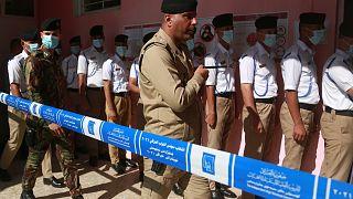 التصويت المبكر للقوات الأمنية في الانتخابات البرلمانية المقررة الأحد في العراق.