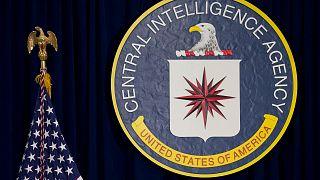 راية وكالة المخابرات المركزية في مقر وكالة المخابرات المركزية في لانجلي بولاية فرجينيا.