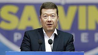 Tomio Okamura leader of Czech far-right Freedom and Direct Democracy speaks during a rally organized by League leader Matteo Salvini