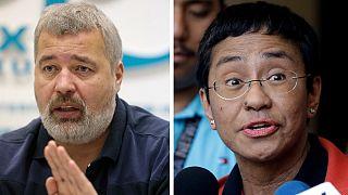Jornalistas Dmitry Muratov (Novaya Gazeta, Rússia) e Maria Ressa (Rappler) distinguidos
