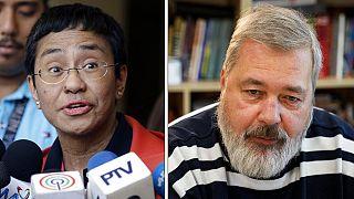 Maria Ressa fülöp-szigeteki és Dimitrij Muratov orosz díjazottak