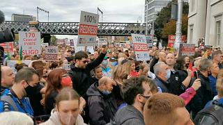 Thousands of homeowners in Ireland marched on Dublin demanding 100% redress from the government for crumbling houses.