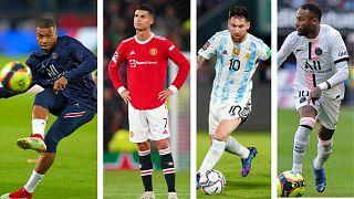 Kylian Mbappe, Cristiano Ronaldo, Lionel Messi, Neymar : 4 des footballeurs nommés pour le prochain Ballon d'Or