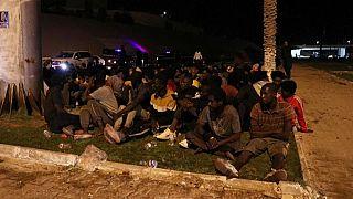 Libyan security forces detain migrants following escape attempt