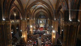 Az első Liszt Ünnep Nemzetközi Kulturális Fesztivál nyitókoncertje a Mátyás-templomban 2021. október 8-án.