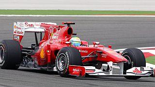 Formula 1 pilotu Felipe Massa'nın İstanbul Park'ta sıralama turlarında çekilmiş bir fotoğrafı.