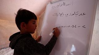 Students return to Idlib classrooms after Covid delays school year