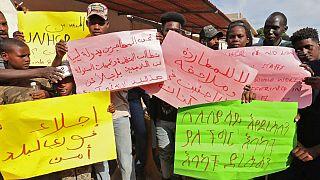 Libya: Migrants demand deportation to a safe place