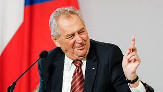 The President of the Czech Republic Milos Zeman on June 10, 2021.