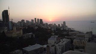 Kein Gebäude in Beirut ist erleuchtet