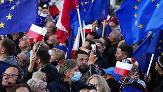 Protestas proeuropeas en Polonia