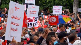 Thousands decry president, instability in Tunisia