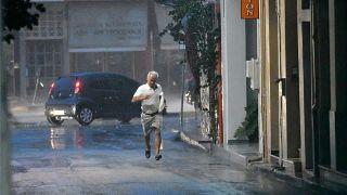 Καταιγίδα στην πόλη του Ναυπλίου