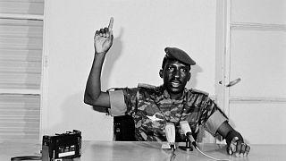 Le capitaine Thomas Sankara, président du Burkina Faso, le 29/08/1986