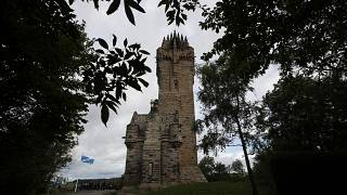 The National Wallace Monument in Stirling, built to honor Sir William Wallace, the 13th century Scottish independence hero who defeated English invaders in 1297