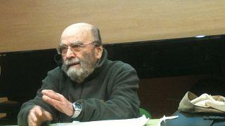 El compositor Luis de Pablo en el Conservatorio Profesional Joaquín Turina de Madrid, 5 de marzo de 2014