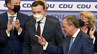 CDU-Chef Armin Lascher und CDU-Generalsekretär Paul Ziemiak, 26.09.2021
