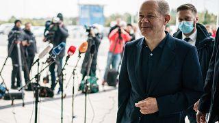 Olaf Scholz, a Német Szociáldemokrata Párt (SPD) kancellárjelöltje