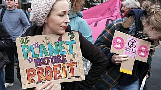 Protestors from climate activism group of Extinction Rebellion