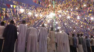 Sudanese Muslims celebrate Mevlit Kandili religious ceremony
