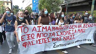 Manifestation des professeurs à Athènes