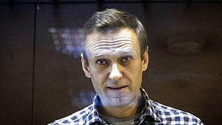 Archív felvétel: Navalnij 2021 februárjában egy moszkvai bíróságon