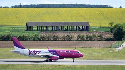 Wizz Air aeroplane