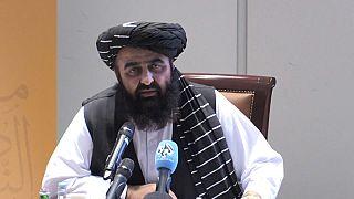 Amir Khan Muttaqi, ministre des Affaires étrangères du gouvernement par intérim taliban, Doha, Qatar, 11 octobre 2021