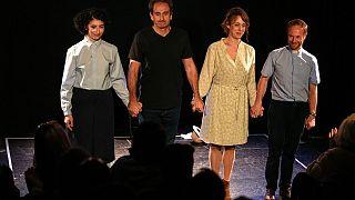 Fransız aktör Laurent Martinez'in oyunundan bir sahne
