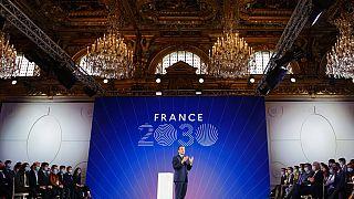 Emmanuel Macron à l'Elysée le 12 octobre 2021