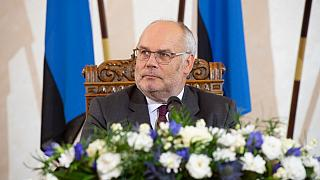 Estonia's new President Alar Karis is pictured following his election in a second round of voting on August 31, 2021 in Tallinn.