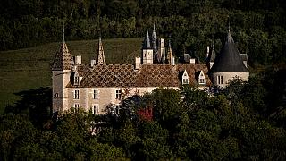 This photograph taken in La Rochepot, Burgundy, eastern France, on October 8, 2021, shows the Chateau de La Rochepot, a 12th-century feudal castle.